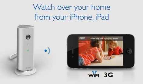 Use the Philips M100 home monitor to see and record what is happening in your home or office on your iPad or iPhone.