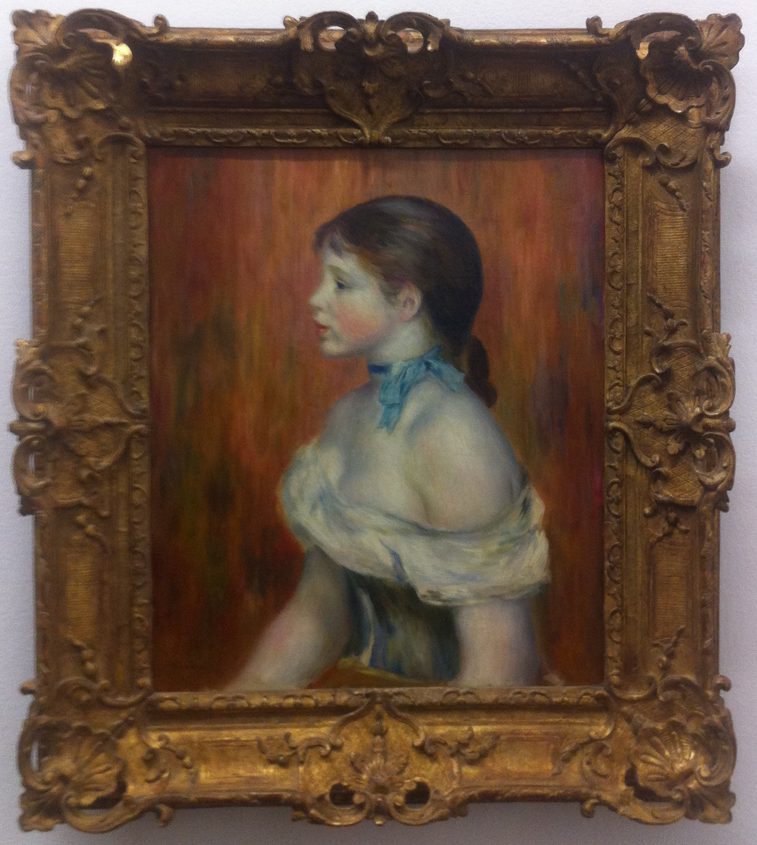 """Renoir's """"Girl with a blue ribbon"""""""