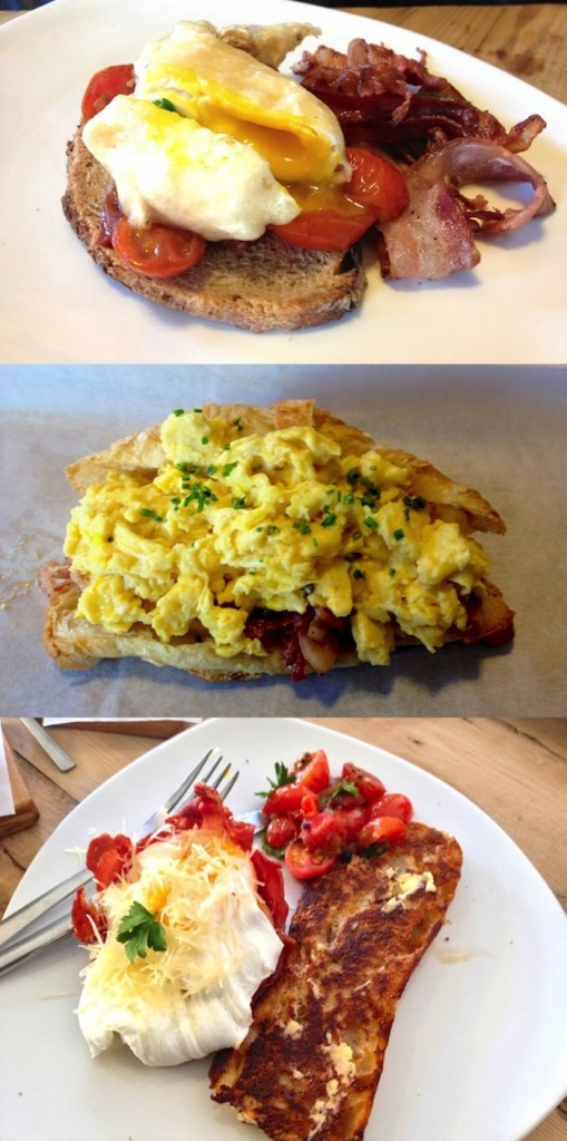 The Whippet Breakfast Delight, The Crispy bacon and egg croissant, and The Whippet Bacon Breakfast Basket.