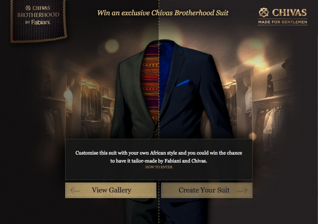 Design Your Own Suit with Chivas