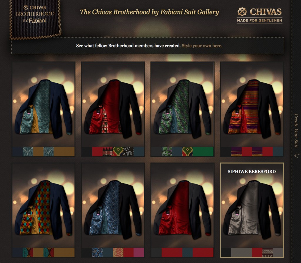 Review some of the other suits created by men that are part of the Chivas Brotherhood