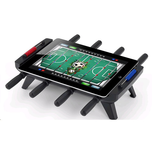 A great little game gadget turns your iPad into a foosball table