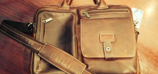 The Boston Leather Tech Briefcase from Jekyll & Hide.