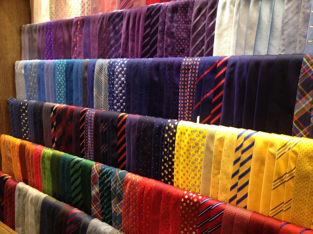 More ties that even I know what to do with.