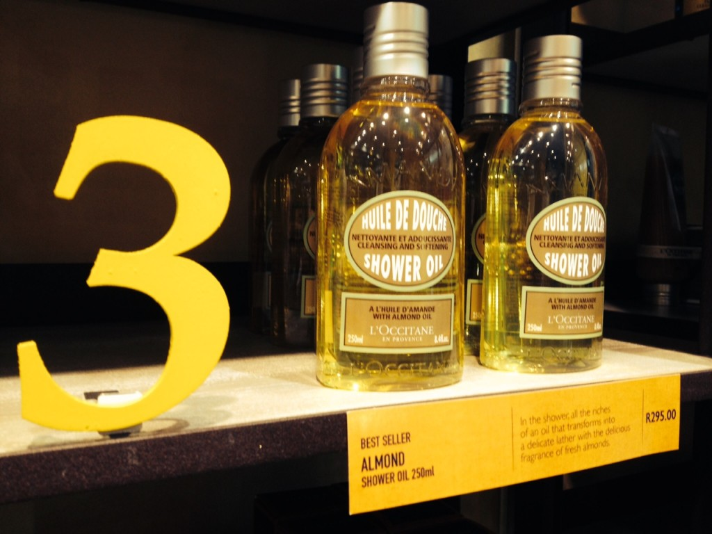 Holding firm at No 3, its L'Occitane's Almond Shower Oil