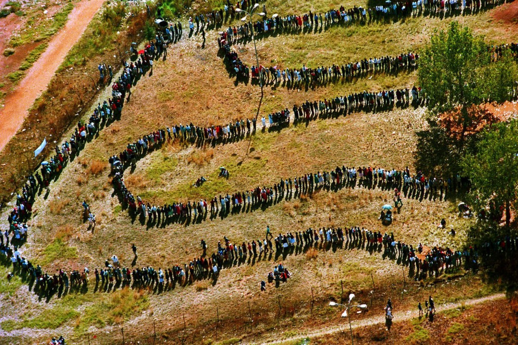 The long 1994 election queues.