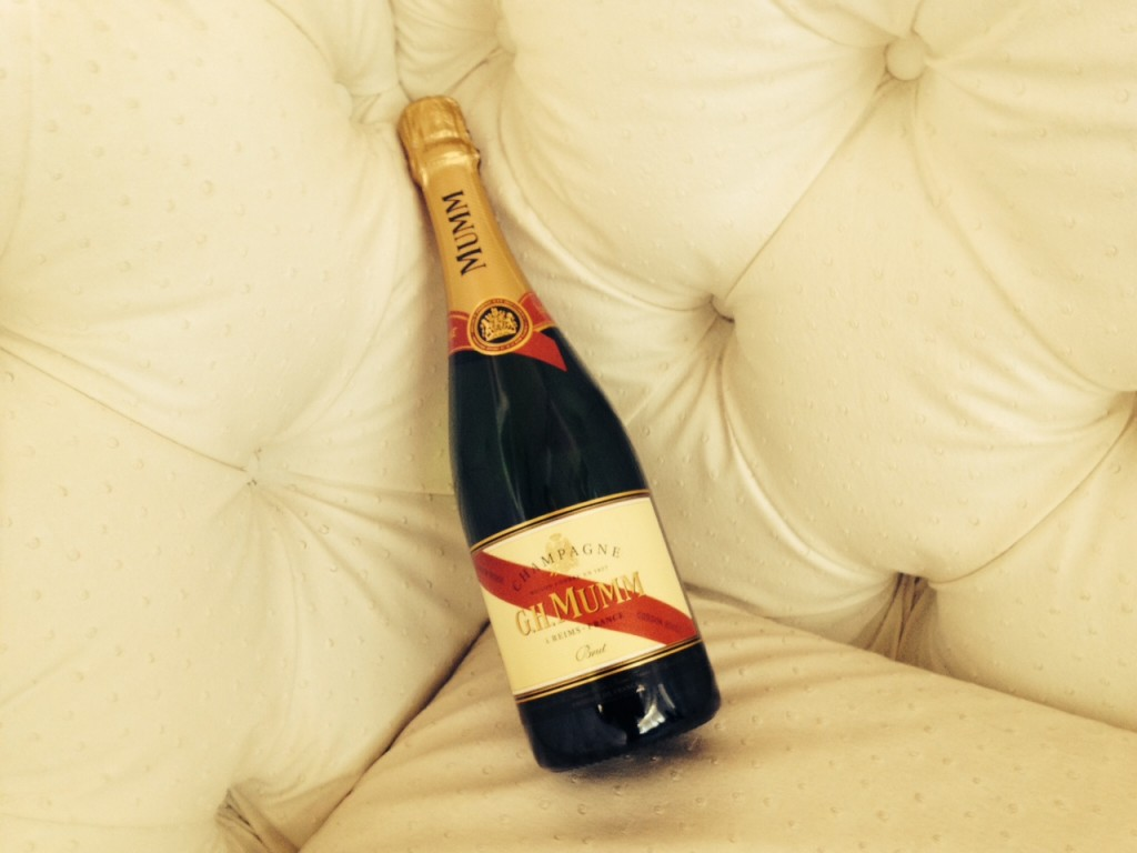 The perfect celebration partner - a bottle of G.H. Mumm Champagne!