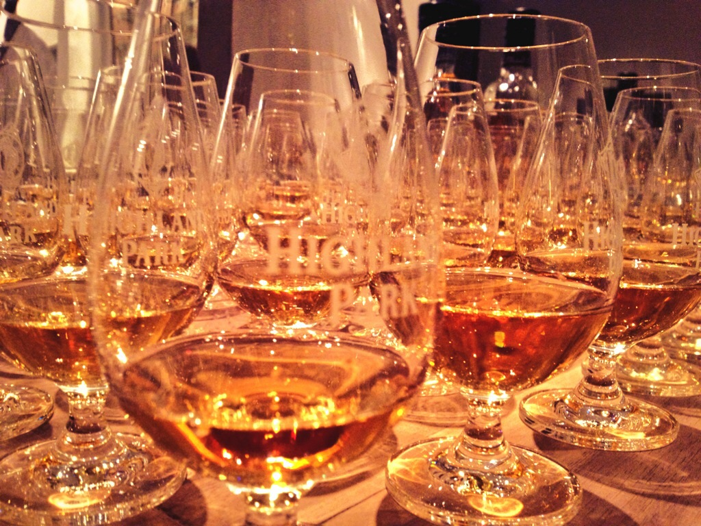 Highland Park 18 - waiting to be tasted - over and over again.