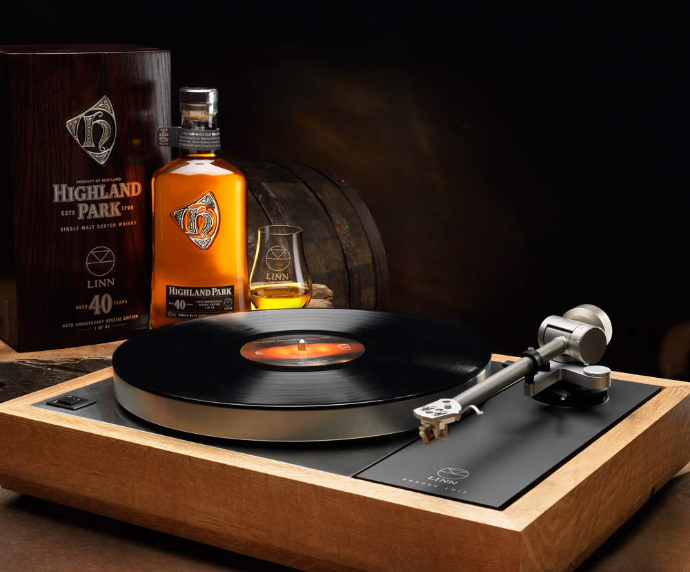 Great Sound and great taste - a partnership between Linn and Highland Park.