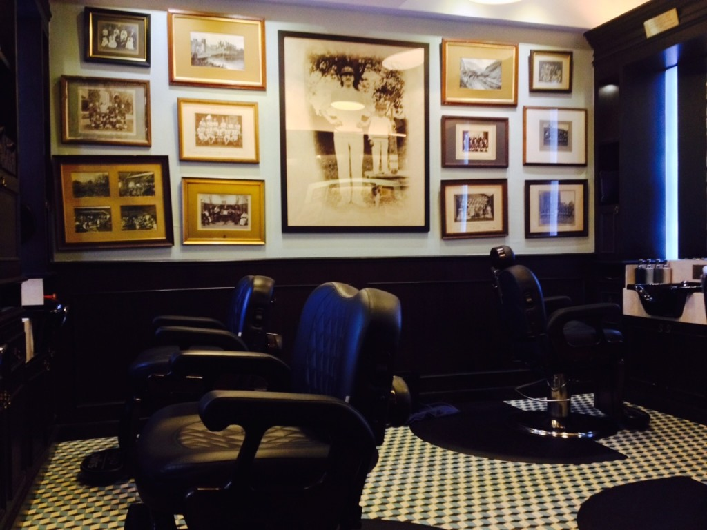 Here's a shot of the interior of the Truefitt & Hill barber shop on Hill Street in Singapore.