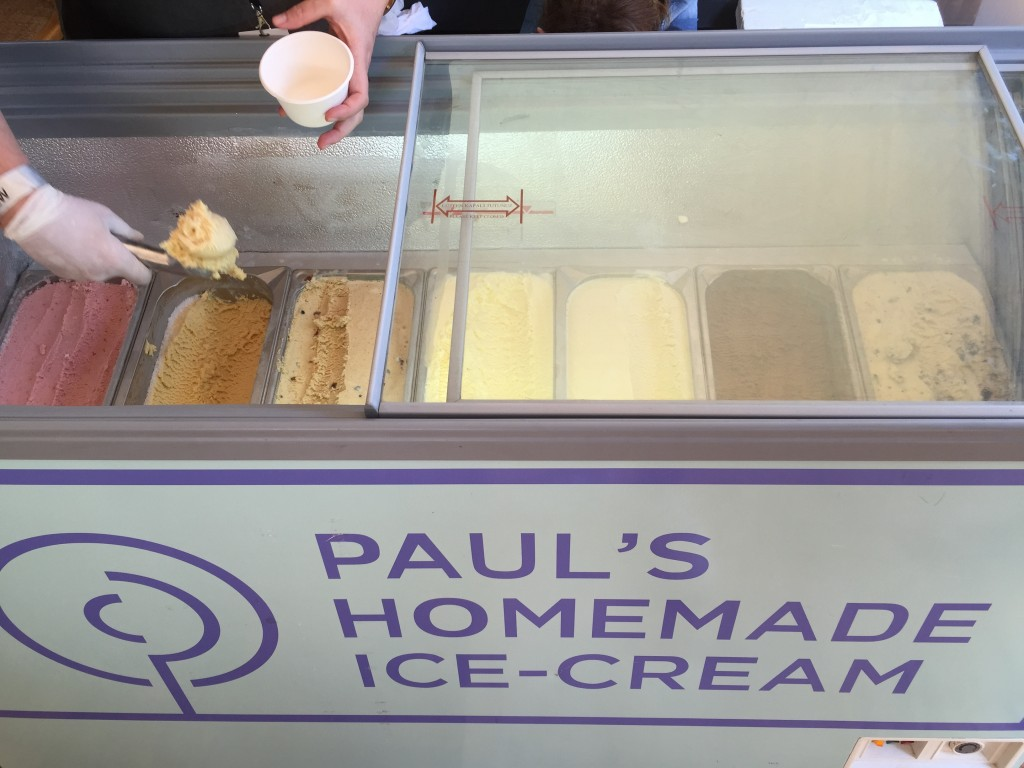 Paul's homemade ice-cream is comparable with the world's best