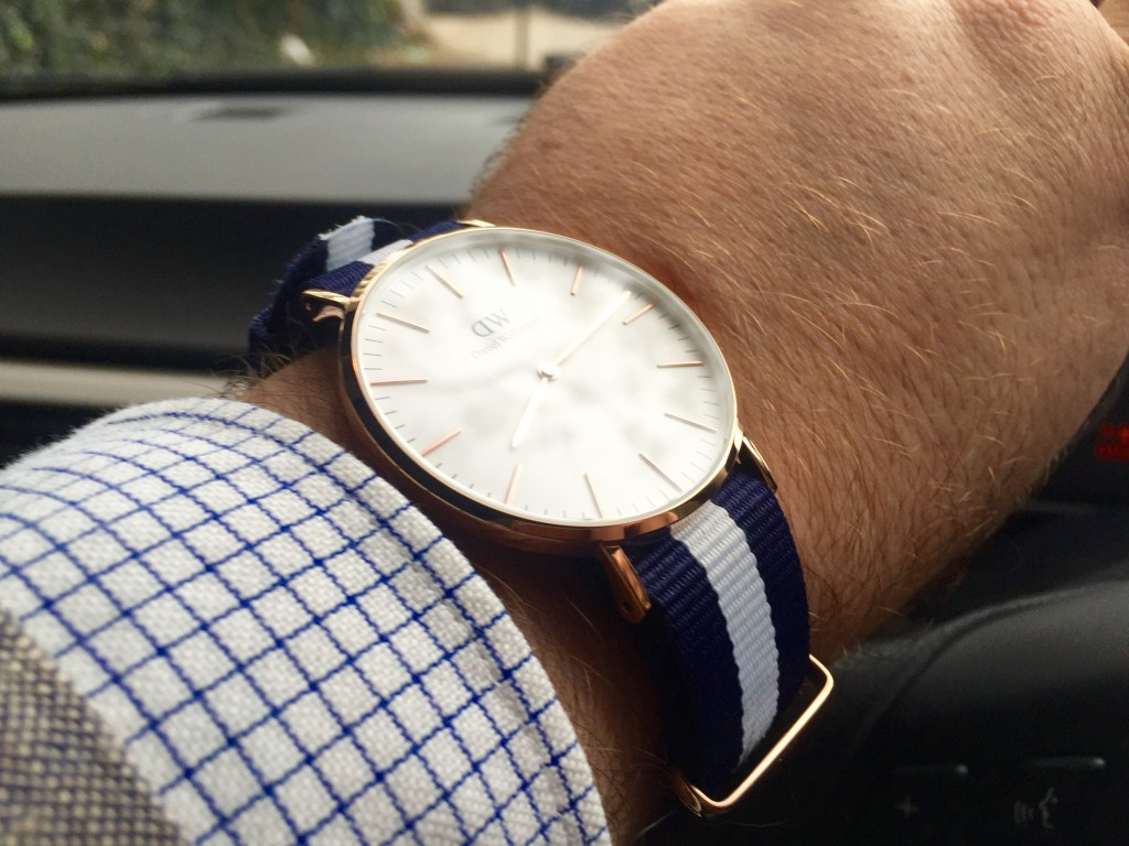 Daniel Wellington 40mm Rose Gold Classic Glasgow