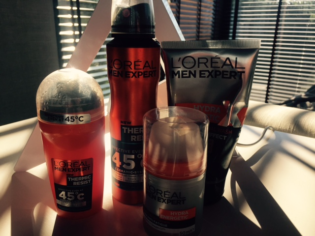The range of L'Oreal Men Expert Thermic resist and Hydra Energetic