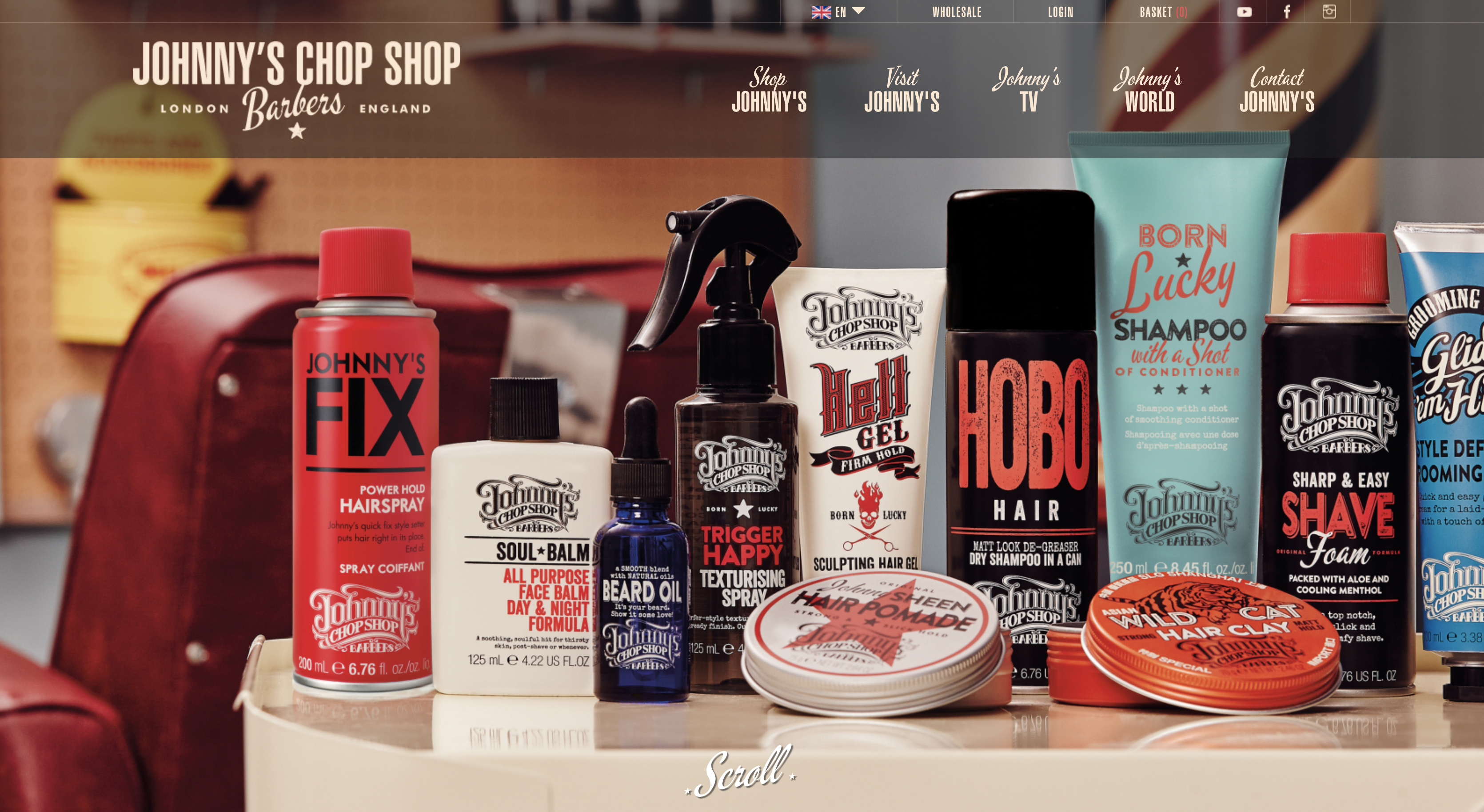 Johnny's Chop Shop men's grooming products now in South Africa
